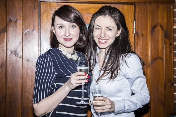 Contentive's Karolina Daniuk with Ana-Maria Leonte of winning net security firm Jumio