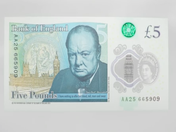 The new £5 note enters circulation today