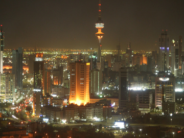 kuwait at night